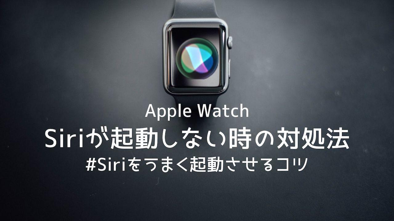 【Apple Watch】Siriが起動しない・反応しない時の対処法を解説
